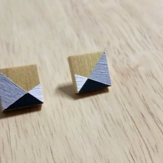 Wooden Earrings No.15
