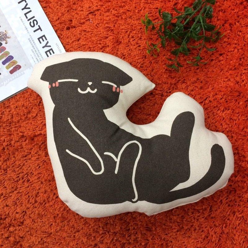 【 插畫家/我的貓貓生活】療癒宅 純棉帆布形狀抱枕