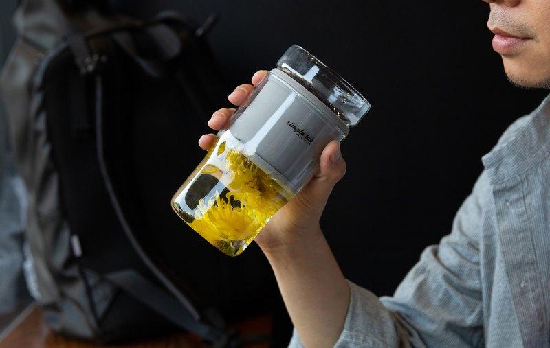 【辦公室神器】PRESSO 壓濾式隔渣 花茶杯   超微網濾杯 溫暖一杯