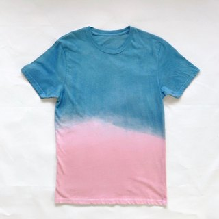 Indigo dyed 藍染+泥染 organic cotton - Morning phase TEE