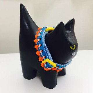 Chain collar hairy child hula hula series - Kindergarten Hula (Blue Orange) Total tricolor