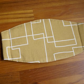 Hand-made custom = daily essential small hand-made masks were = = = khaki Nordic geometric lines