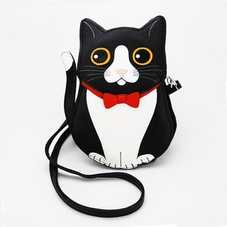 Sleepyville Critters - Black Tuxedo Cat Crossbody Bag