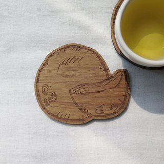 Wooden Coaster Coconut