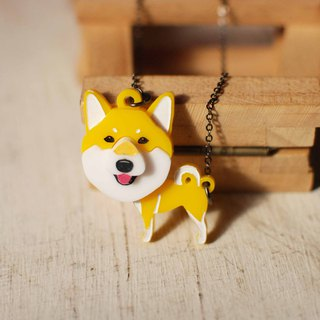 Shiba Inu / Yellow / Hairy Child in Neck / Top-heeled / Short Chain