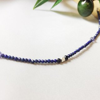 MH Sterling silver natural stone custom series _ see shine _ lapis lazuli