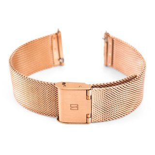 Stainless Steel Mesh Watch Band - 20 mm. (Silver, Rose gold)
