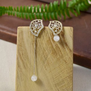 Lace moonstone earrings