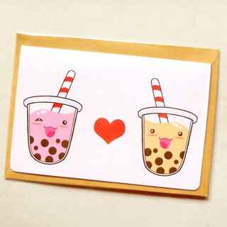 [卡片] 珍珠奶茶 // Bubble Tea Note Card