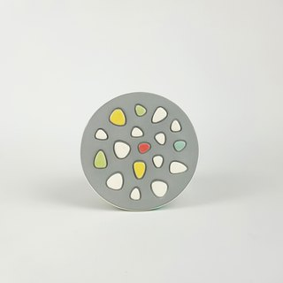 Mosaic Brick Series - Vintage Mosaic Brick Circle Coaster