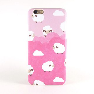 Fluffy sheep iPhone case in Bubblegum Pink