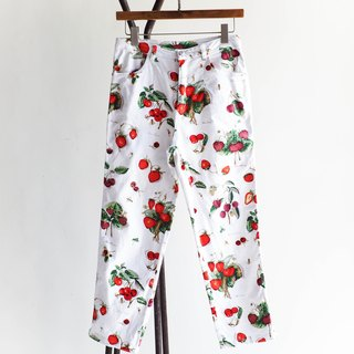 River Hill - sweet seasonal fruit ice cotton denim Love Letters Straight narrow pants antique vintage denim pants vintage