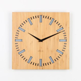 LOO bamboo mute wall clock | index gray.