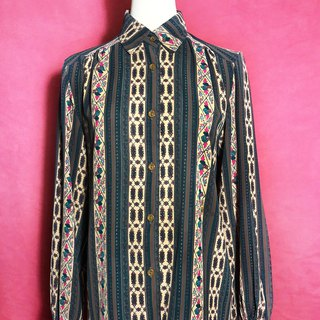 European totem long sleeve vintage shirt / brought back to VINTAGE abroad