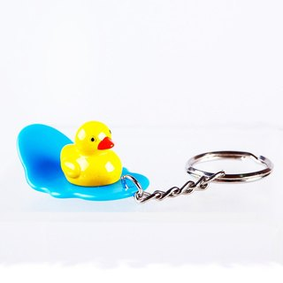 Yellow Duck Character Surfing Board Key Chain Random Color Delivery Lot of 6