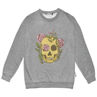 British Fashion Brand -Baker Street- Pink Rose & Skull Printed Sweater