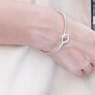 Lock ring sterling silver bracelet