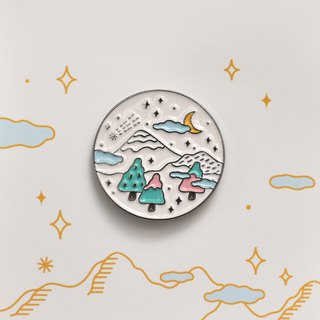Sleeping forest gentle moon pin