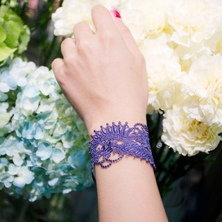Mosaic seriers embroidery lace bracelet