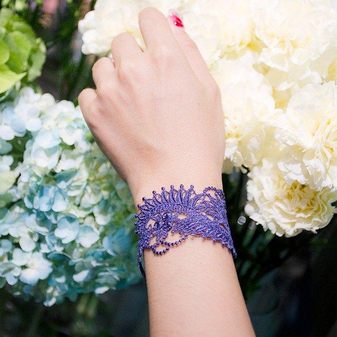 花葉低語刺繡手鍊2件組