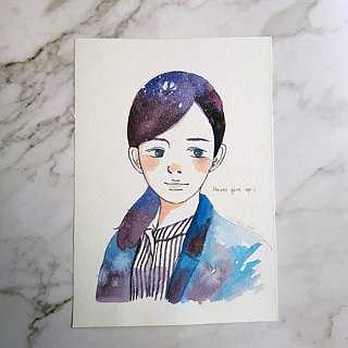 Like a paint | Starry watercolor portrait (single)