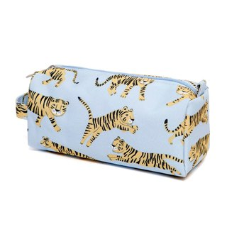 Petit Monkey, the Netherlands - environmentally friendly grey blue tiger pen bag / storage bag