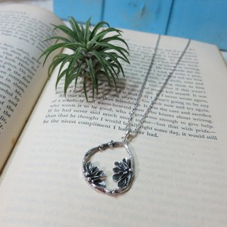 "One ""fern"" / Department of Forestry / handmade sterling silver pendant"