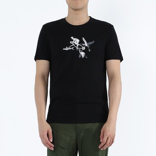 Fish Heron Army Battle - Fish Heron Knight Collagen Print Tee (Black)