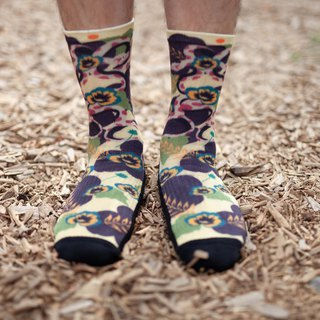 【 Treasure Island Coffee - Turtle Shell Flower】Environmental Coffee Sand/Sports Socks