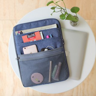 Multi-layered easy to use bag (13.5 notebook OK) hemp _100443