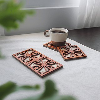 - Busay Window Scenery - | Iron Window | Potholders | Coasters | Wooden | Cats | Birds
