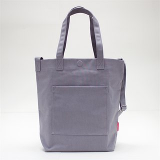 2 Ways Waterproof Heavy Canvas Tote Bag / Grey