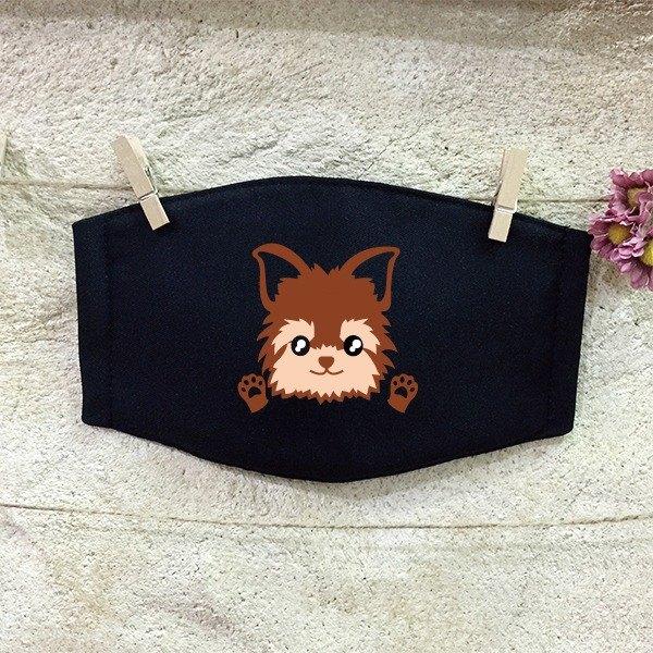 質感手工口罩 反光口罩 約克夏犬 Yorkshire Terrier
