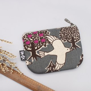 Out of print - Ping An Xiaole Wallet - Dreaming Bird (Peach Tree), Handle