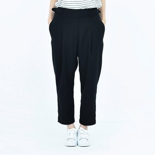 kitann ino unique design waistband loose sense neutral feet tapered pants