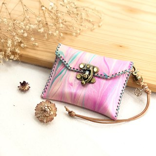 Colorful rendering coin purse - business card holder / card storage