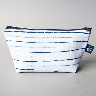 Blue dye Universal Bag Series - blue and white Wenqing blue stripes
