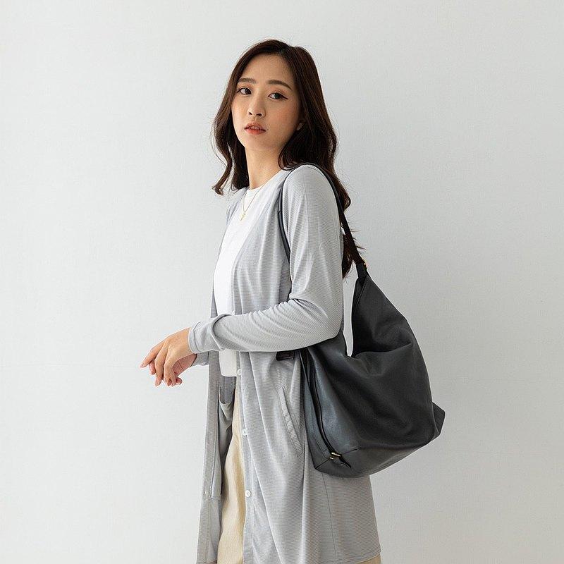 水潤白抗UV保濕長版外套-時尚灰 UV外套 涼感 防曬罩衫