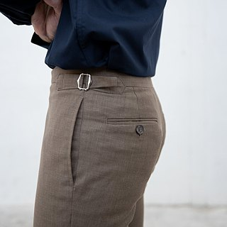 Grey Stripe - 2 button trousers c