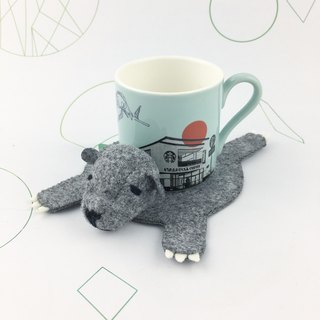 Bear three-dimensional coaster(Gray color)