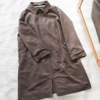 Niigata chocolate split youth day antique thin windbreaker jacket trench_coat dustcoat