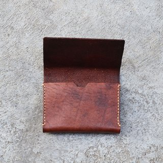 Double business card box leather handmade