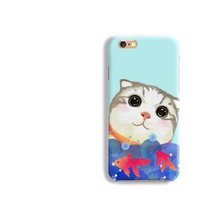 Scottish fold Cat Matt hard Phone Case iPhone X 8+ 7 6 S8 plus Samsung S9 S8