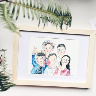A little bit alike painting-Family portrait