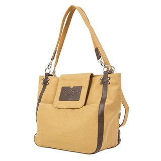 "Amore Aijiadanni ""Her Change · City Tottenham"" portable shoulder back with three khaki bag A4 package"