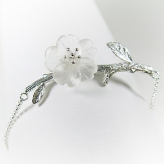 READ Dazzling Pure | Rain White Crystal 925 Silver Bracelet