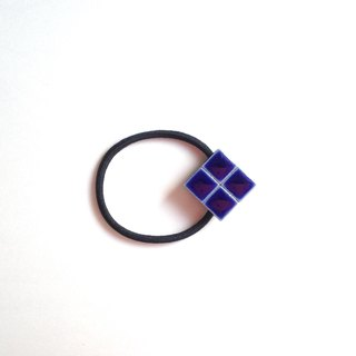 Tile hair rubber (navy)
