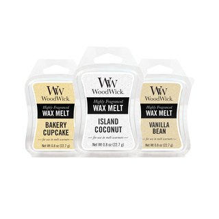 【VIVAWANG】 WW1oz Scented Lavatory Wax (Happy Sweet Three Pieces) Cup Cake + Island Coconut + Vanilla Peas