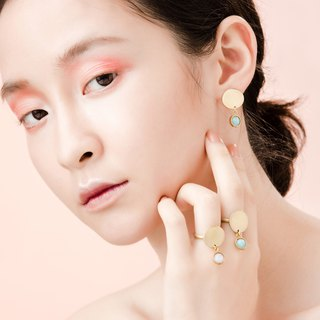 Illusions Short Mirror Earrings / Brass