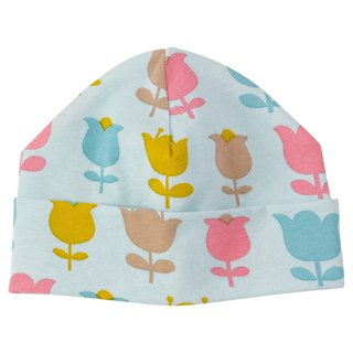 100% organic cotton tulip baby beanie hat made in the UK